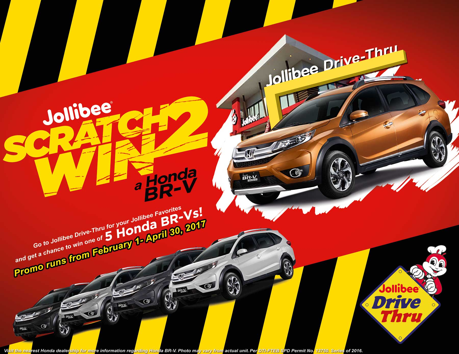 "Honda partners with Jollibee in ""Scratch 2 Win Campaign"" – Motoph"